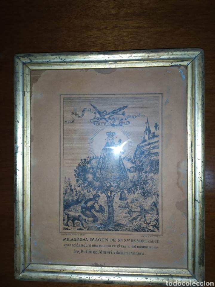 GRABADO MILAGROSA IMAGEN DE Nª SRA. DE MONTEAGUD. H. NAVARRO DE VERA ALMERÍA. (Arte - Grabados - Modernos siglo XIX)