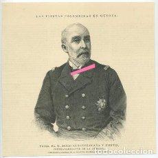 Arte: DON ZOILO SÁNCHEZ-OCAÑA Y VIEITIZ. CONTRAALMIRANTE DE LA ARMADA.. Lote 195530148