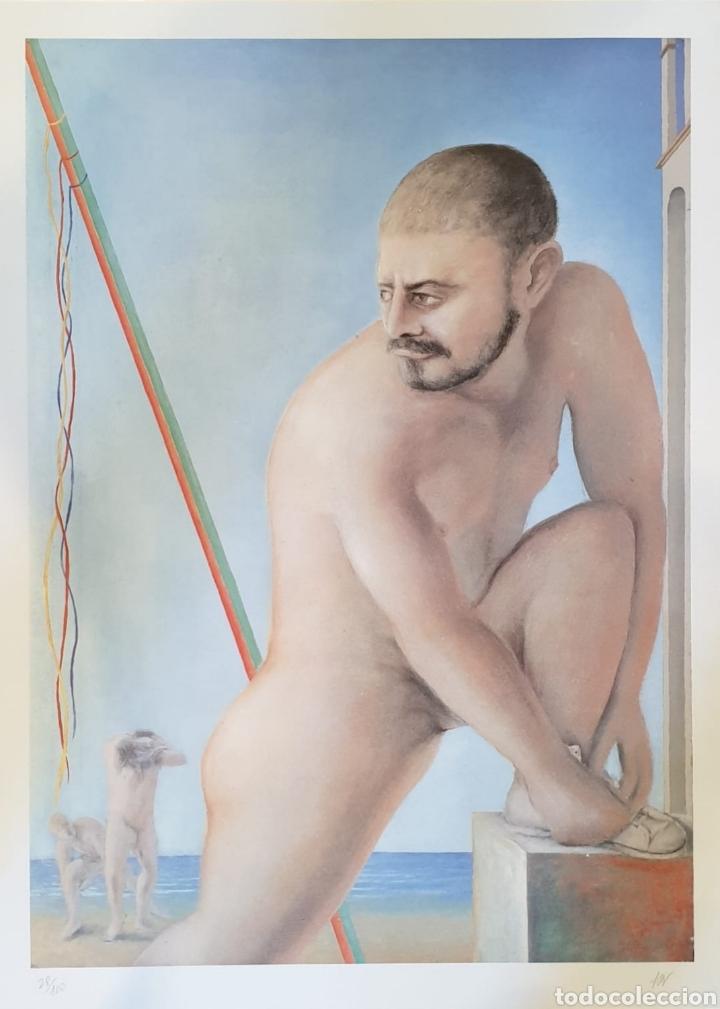 GUILLERMO PEREZ VILLALTA. LITOGRAFÍA ORIGINAL FIRMADA Y NUMERADA. OLIMPIADAS BARCELONA 92 (Arte - Grabados - Contemporáneos siglo XX)