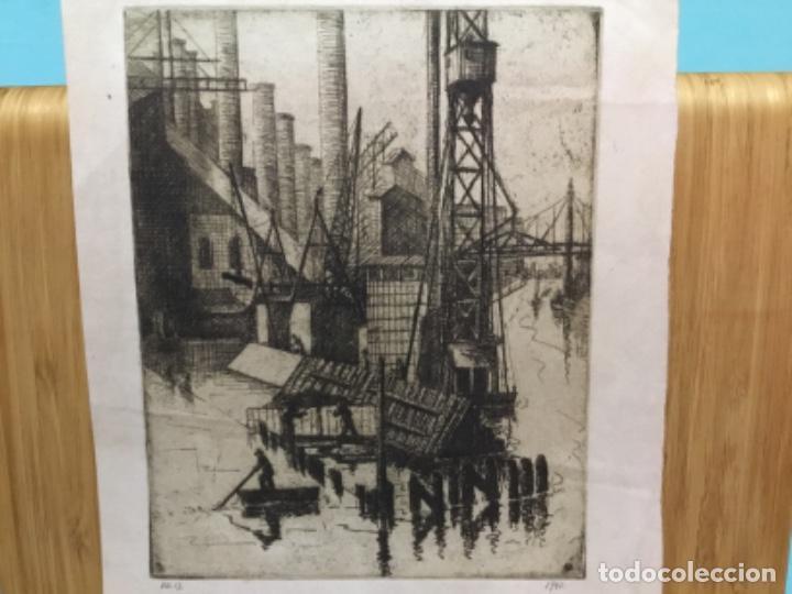 Arte: Grabado firmado f.d. 17.1941.autor desconocido. - Foto 2 - 195590263