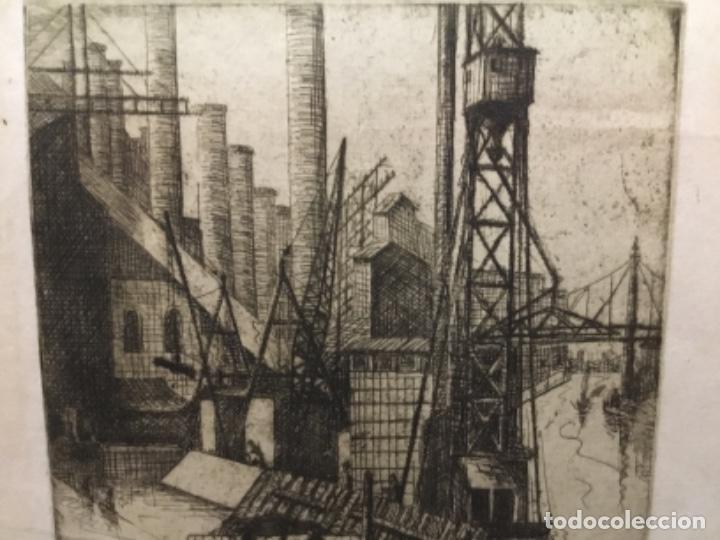 Arte: Grabado firmado f.d. 17.1941.autor desconocido. - Foto 3 - 195590263