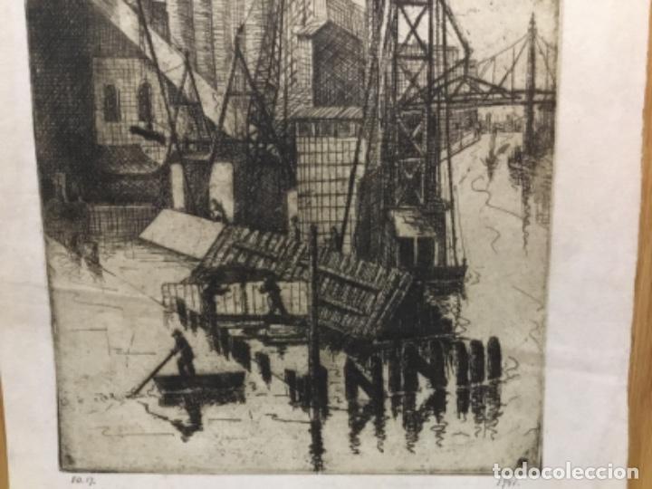 Arte: Grabado firmado f.d. 17.1941.autor desconocido. - Foto 4 - 195590263