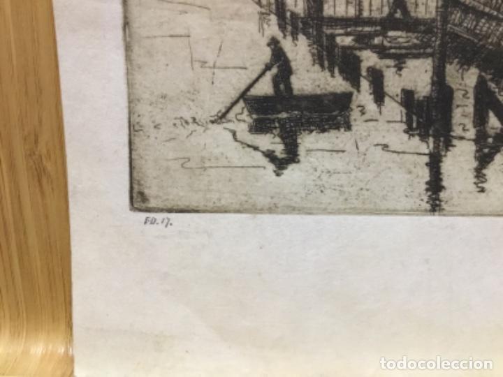 Arte: Grabado firmado f.d. 17.1941.autor desconocido. - Foto 5 - 195590263