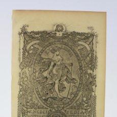 Arte: ALEXANDRE DE RIQUER, GRABADO, EX-LIBRIS ENCICLOPEDIA ILUSTRADA. 24X16CM. Lote 195703743