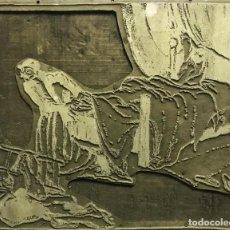 Arte: PLANCHA DE ZINC PARA GRABADO. XAVIER NOGUÉS. Lote 195716358