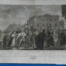 Arte: (M) GRABADO OCUPACION DE LA CIUDADELA DE BARCELONA Y CASTILLO DE MONTJUICH POR LOS FRANCESES 1808. Lote 195745612