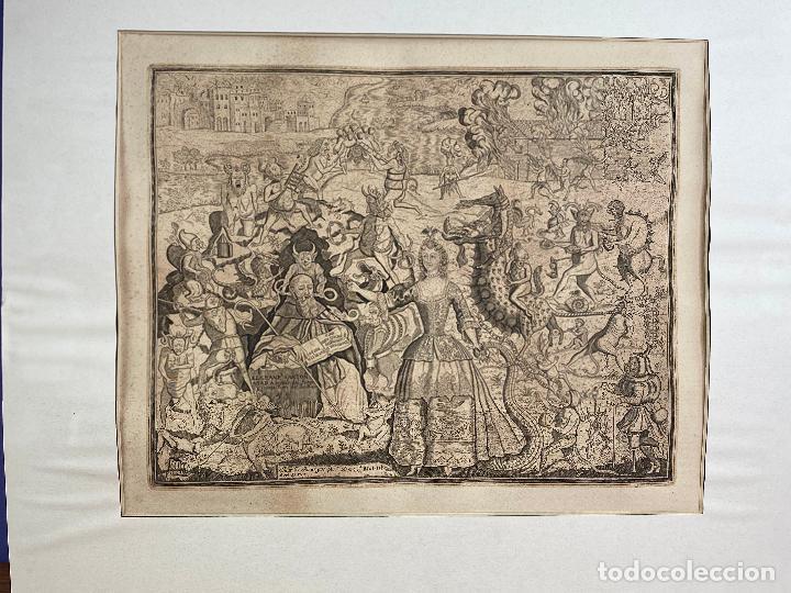 Arte: Grabado año 1719 - Las tentaciones de San Anton - El gran padre san Anton Abad - Juan D Amargos - Foto 2 - 196021255