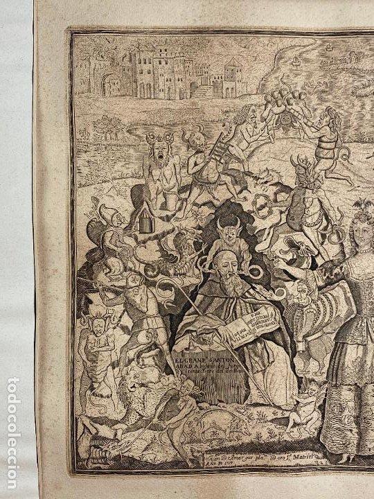 Arte: Grabado año 1719 - Las tentaciones de San Anton - El gran padre san Anton Abad - Juan D Amargos - Foto 3 - 196021255