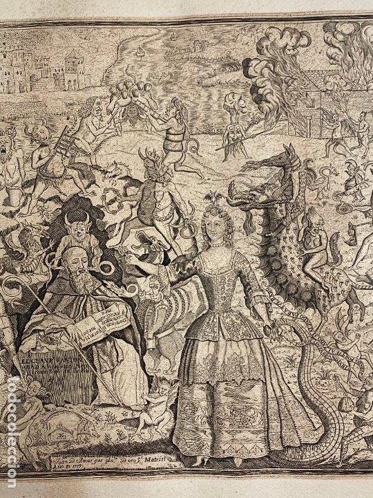 Arte: Grabado año 1719 - Las tentaciones de San Anton - El gran padre san Anton Abad - Juan D Amargos - Foto 4 - 196021255