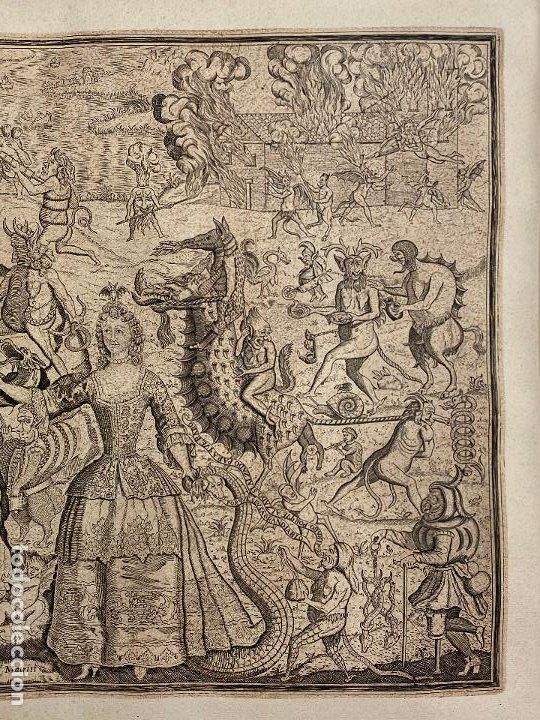 Arte: Grabado año 1719 - Las tentaciones de San Anton - El gran padre san Anton Abad - Juan D Amargos - Foto 5 - 196021255