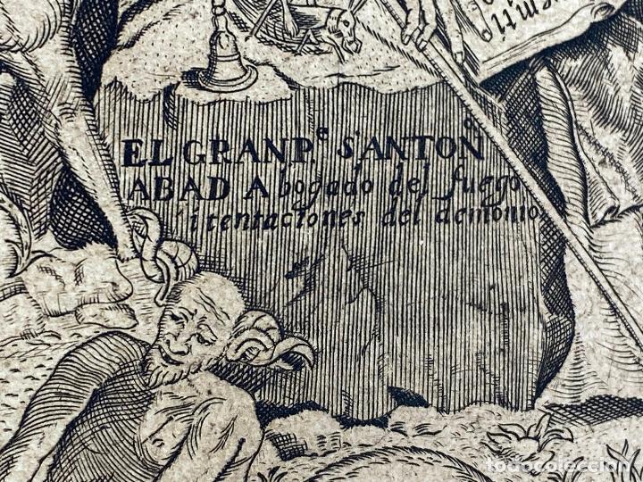 Arte: Grabado año 1719 - Las tentaciones de San Anton - El gran padre san Anton Abad - Juan D Amargos - Foto 7 - 196021255