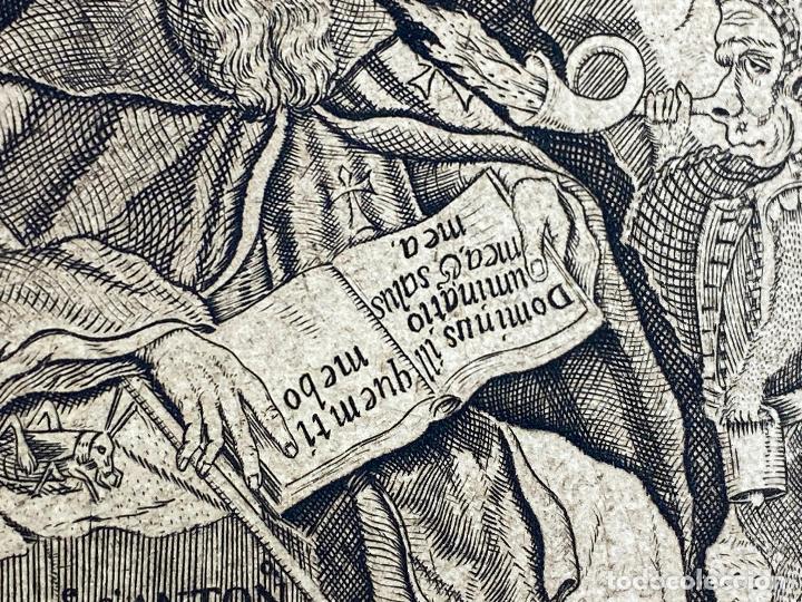 Arte: Grabado año 1719 - Las tentaciones de San Anton - El gran padre san Anton Abad - Juan D Amargos - Foto 8 - 196021255