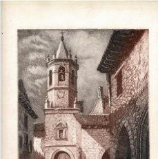 Arte: TERUEL.- IGLESIA DE CANTAVIEJA.GRABADO AGUAFUERTE VICENTE ARMIÑANA, PRUEBA DE AUTOR. 45X32,5.. Lote 196147347