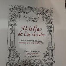 Arte: 1977 EDICIONES MOTA MADRID ÁNGEL BELLIDO VISITA CHISTES QUEVEDO SUEÑOS GRABADOS AGUAFUERTES. Lote 196149176