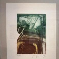Arte: JOAQUÍN CAPA AGUAFUERTE ORIGINAL NUMERADO. Lote 196252382