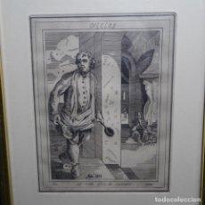 Arte: GRABADO FIRMADO A. SANTOS 46/100.EL NOBLE OFICIO DEL COCINERO.AÑO 1533.. Lote 196316671