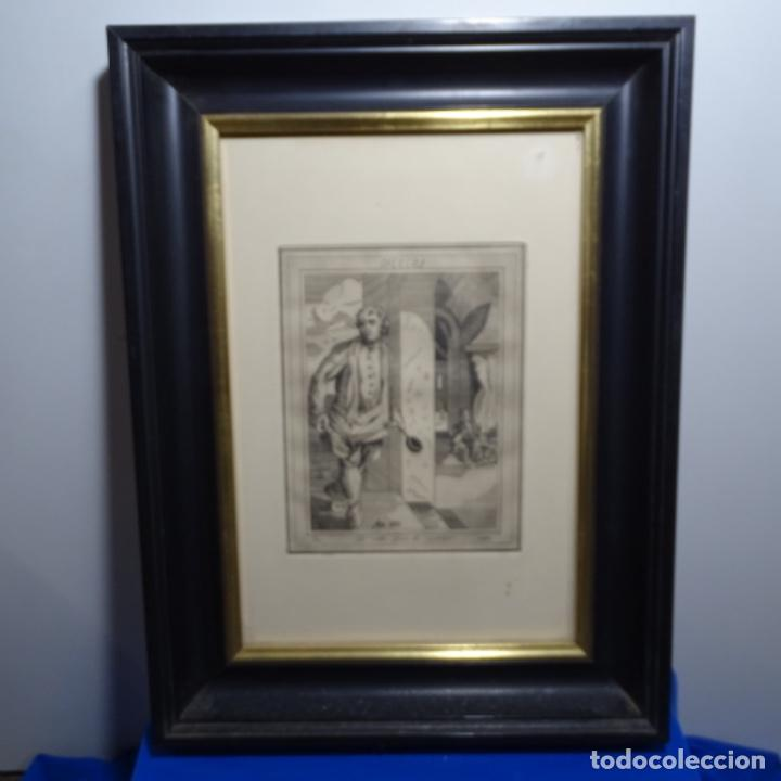 Arte: Grabado firmado a. Santos 46/100.el noble oficio del cocinero.año 1533. - Foto 2 - 196316671