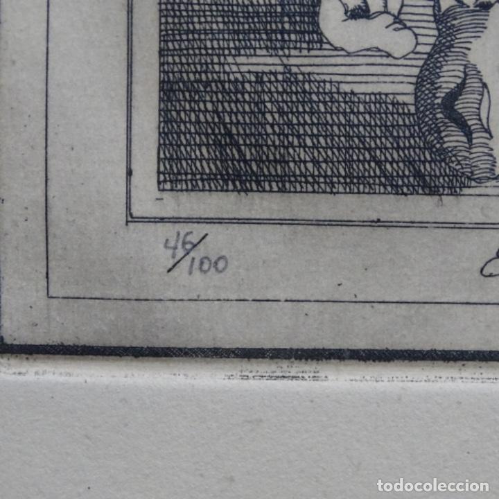 Arte: Grabado firmado a. Santos 46/100.el noble oficio del cocinero.año 1533. - Foto 8 - 196316671