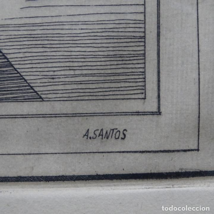 Arte: Grabado firmado a. Santos 46/100.el noble oficio del cocinero.año 1533. - Foto 10 - 196316671