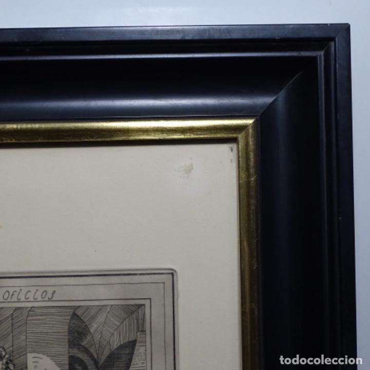 Arte: Grabado firmado a. Santos 46/100.el noble oficio del cocinero.año 1533. - Foto 11 - 196316671