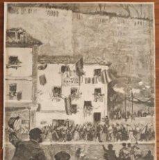 Arte: GRABADO JOAQUÍN SOROLLA/ B. RICO. LAS REGATAS EN SAN SEBASTIAN. LA ILUSTRACIÓN ESPAÑOLA. 1890.. Lote 196511171
