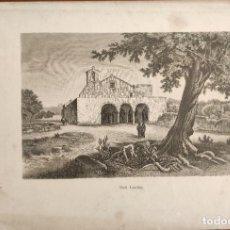 Arte: GRABADO ORIGINAL. SAN CARLOS. IBIZA. ARCHIDUQUE LUIS SALVADOR DE AUSTRIA. 1886.. Lote 196599446