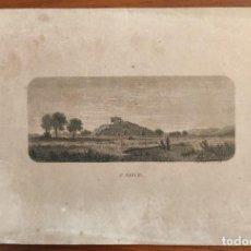 Arte: GRABADO ORIGINAL. SAN MIGUEL. IBIZA. ARCHIDUQUE LUIS SALVADOR DE AUSTRIA. 1886.. Lote 196602862
