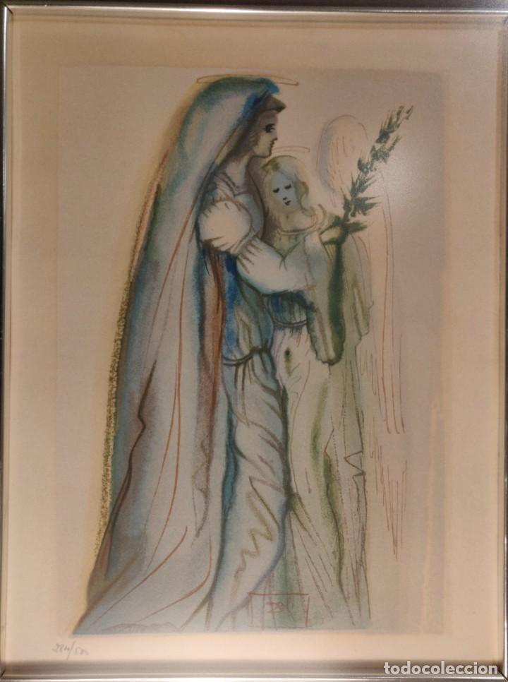 Arte: Dalí. Divina Comedia. Paraiso. Canto 32. Xilografía. Firmado en plancha. Numerada: 284/500 - Foto 3 - 196669226