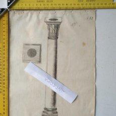 Arte: SIGLO 18 GRABADO ORIGINAL ORNAMENTACION DE CATALOGO FABRICANTE D PLATERIA TINTERO CANDELABRO LABRADO. Lote 196730742