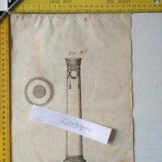 Arte: SIGLO 18 GRABADO ORIGINAL ORNAMENTACION DE CATALOGO FABRICANTE D PLATERIA TINTERO CANDELABRO LABRADO. Lote 196733361