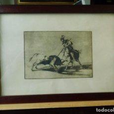 Arte: 16 GRABADOS ANTIGUOS ENMARCADOS PRINCIPALES SUERTES DE LIDIA. Lote 196754001