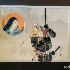 Arte: XILOGRAFÍA JAPONESA KUCHI - E ORIGINAL TOMIOKA EISEN 1898. Lote 196788746