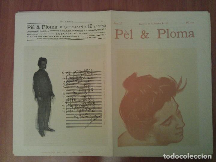 FACSIMIL CUBIERTAS PÈL & PLOMA Nº 17 (Arte - Grabados - Contemporáneos siglo XX)
