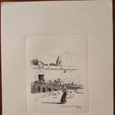 Arte: GRABADO. THE GATE OF SANTA CATALINA. PALMA. MALLORCA.. Lote 197336640