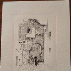 Arte: GRABADO. CALLE DE LA ALMUDAINA. PALMA DE MALLORCA.. Lote 197337032