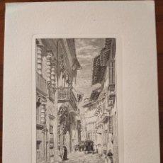 Arte: GRABADO. STREET IN PALMA. MALLORCA. DE LETTERS FROM MAJORCA.. Lote 197337705