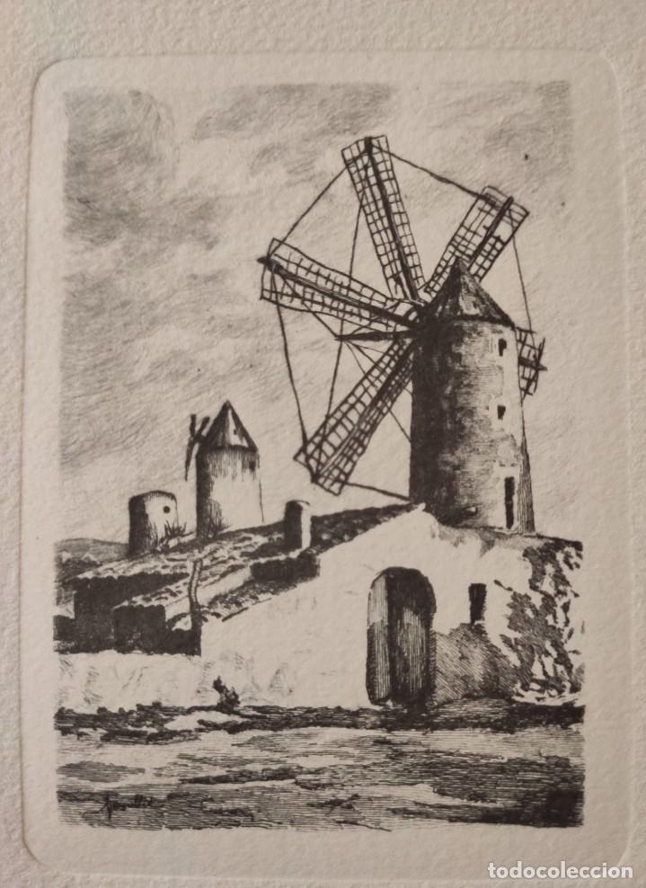 Arte: GRABADO. MOLINO. MALLORCA. - Foto 2 - 197339100