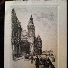 Arte: GRABADO: TIPOGRAFÍA. PARÍS (FRANCIA). LA CONCIERGERIE. FIRMADO; L. ROBIN.. Lote 197565543
