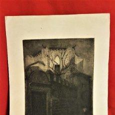 Arte: LUIS ARCAS BRAUNER (VALENCIA,1934-CAMBRIDGE ,U.K.,1989) VALENCIA ? GRABADO 61 X 35 (31 X 24 HUELLA ). Lote 197633142