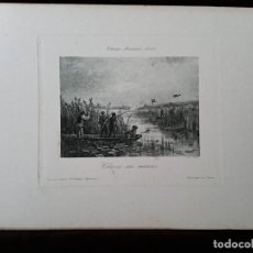 Arte: GRABADO: MONOTIPIA / * CHASSE AU MARAIS *. GRABADOR; BOUSSOD VALADON. (S. XIX).. Lote 197655211