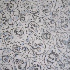 Arte: MULTITUDE - INTERESANTE GRABADO DE GAP (GUILLERMO ANTÓN) CON INSPIRACIÓN EN ANTONIO SAURA. Lote 197739267