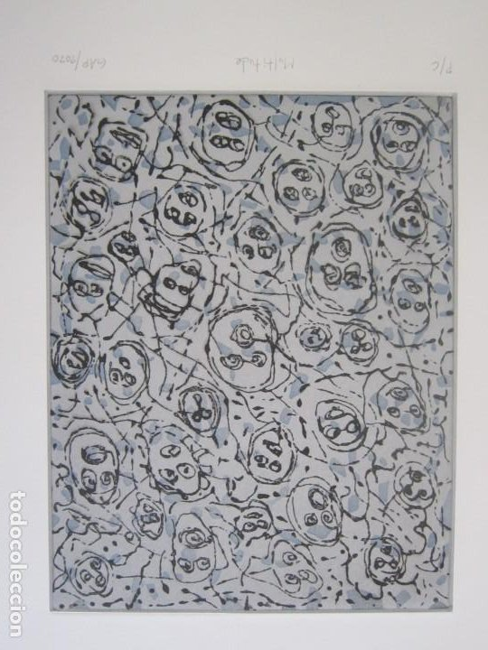 Arte: Multitude - Interesante Grabado de GAP (Guillermo Antón) con inspiración en Antonio Saura - Foto 2 - 197739267