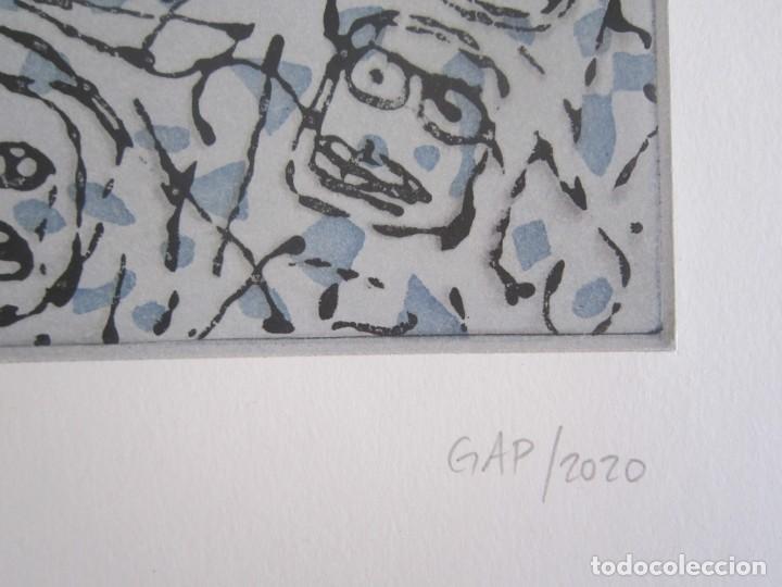 Arte: Multitude - Interesante Grabado de GAP (Guillermo Antón) con inspiración en Antonio Saura - Foto 3 - 197739267
