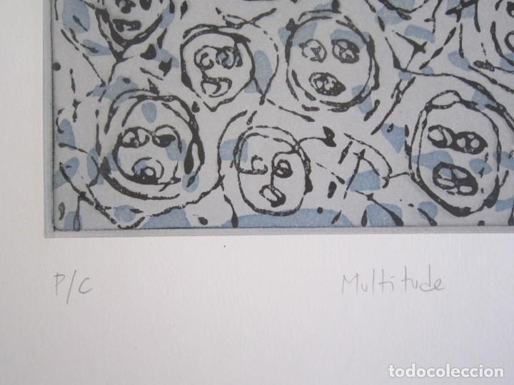 Arte: Multitude - Interesante Grabado de GAP (Guillermo Antón) con inspiración en Antonio Saura - Foto 4 - 197739267