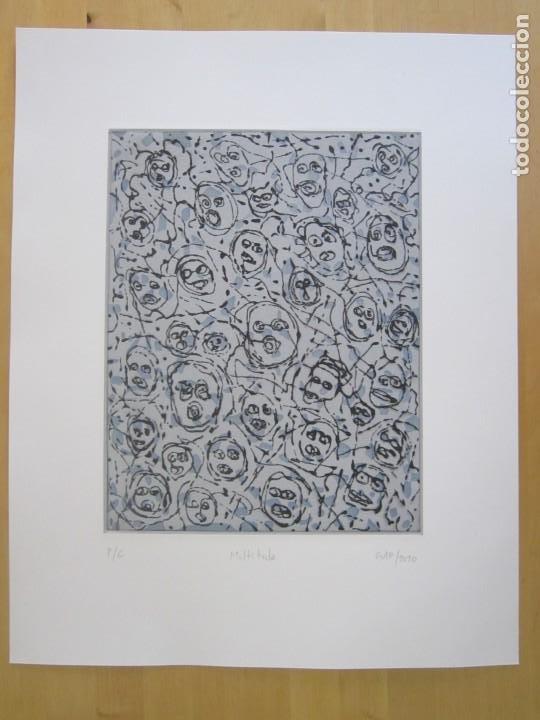 Arte: Multitude - Interesante Grabado de GAP (Guillermo Antón) con inspiración en Antonio Saura - Foto 5 - 197739267