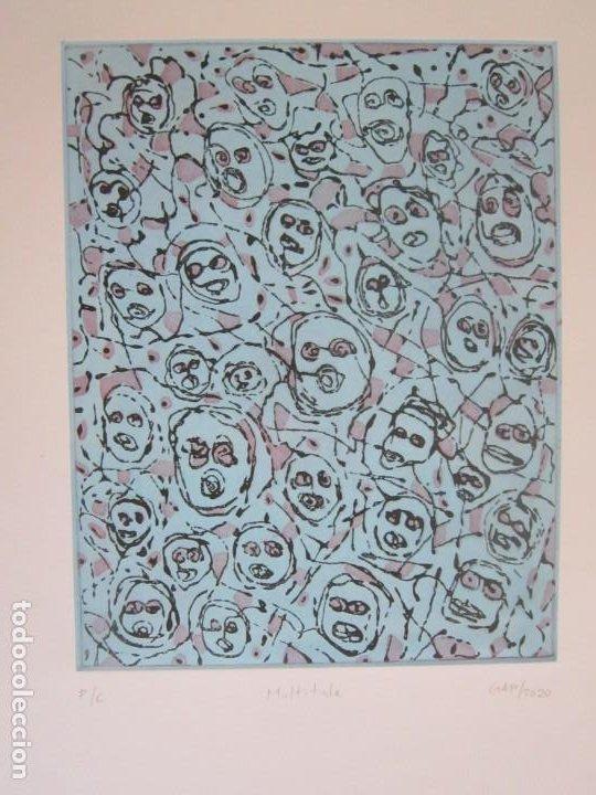 MULTITUDE (MULTITUD) - GRABADO DE GAP (GUILLERMO ANTÓN) - 50X70 CM INSPIRACIÓN EN ANTONIO SAURA (Arte - Grabados - Contemporáneos siglo XX)