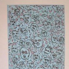 Arte: MULTITUDE (MULTITUD) - GRABADO DE GAP (GUILLERMO ANTÓN) - 50X70 CM INSPIRACIÓN EN ANTONIO SAURA. Lote 197740046