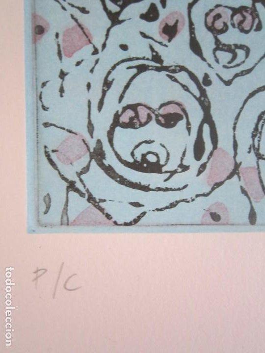 Arte: Multitude (Multitud) - Grabado de GAP (Guillermo Antón) - 50x70 cm Inspiración en Antonio Saura - Foto 8 - 197740046