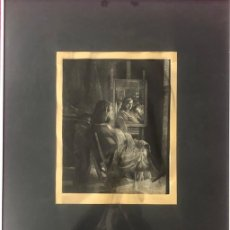 Arte: GRABADO 56 X 45 CMS . ALUMINIO LACADO. FIRMADO ROLANDO CAMPOS. 1984. Lote 197823976