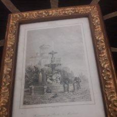 Arte: ANTIGUO GRABADO, FUENTE DEL PRADO, MADRID. Lote 198034746